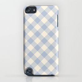 PASTEL GINGHAM 04, lavender blue diamonds iPhone Case