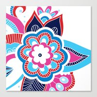 henna Canvas Prints featuring Henna Colourful by nicky9