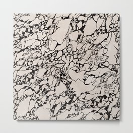Hand drawn marble rock pattern Metal Print