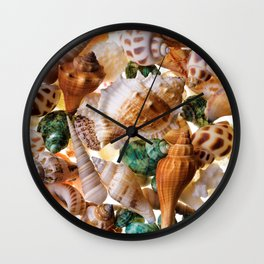 Seashells background Wall Clock