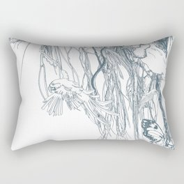 Amazonie blue green Rectangular Pillow