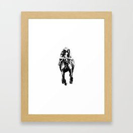 Racehorse Sketch Framed Art Print