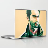 derek hale Laptop & iPad Skins featuring Derek by Alice X. Zhang