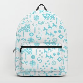 Peoples Story - Turquoise and White Backpack