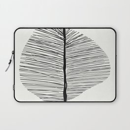 Abstract Leaf Art Print - Nature Art Print Black and whit Laptop Sleeve