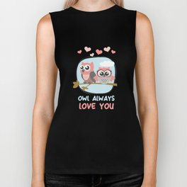 Owl Always Love You Wildlife Nocturnal Animal Night-Owl Lovers Hunters Gift Biker Tank