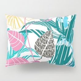 Stylized leaves and flowers Pillow Sham