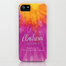 Archeiai Guidance: Inspirationsfrom the Feminine Aspects of the Archangels iPhone Case