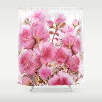 iggy azalea Shower Curtains featuring azalea by tatiana-teni
