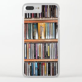CD's on a Shelf Clear iPhone Case