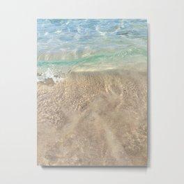 Sea Sand Sun Ocean Waves Metal Print