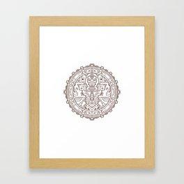 Steampunk Headphone Mandala Framed Art Print