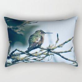 Ruffled Hummingbird Rectangular Pillow