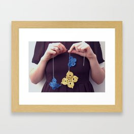 A butterfly life Framed Art Print