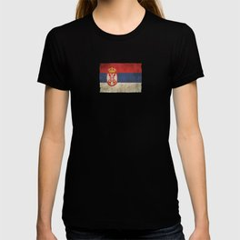 Old and Worn Distressed Vintage Flag of Serbia T-shirt