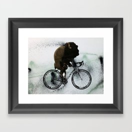 BUFF RIDER Framed Art Print