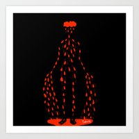 there will be blood Art Prints featuring Blood by Jenny Panush
