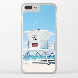Lifeguard tower Carlsbad 35 Clear iPhone Case