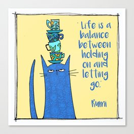 life is a balance ... Canvas Print