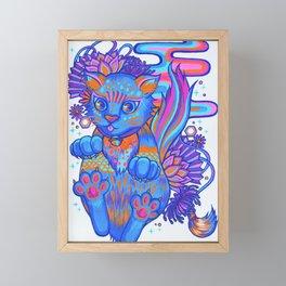 Psychedelic Kitty Framed Mini Art Print