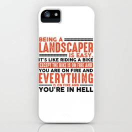 Being a Maintenance Worker Is Easy Shirt Everything On Fire iPhone Case
