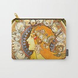 La Plume Zodiac - Alphonse Mucha Carry-All Pouch