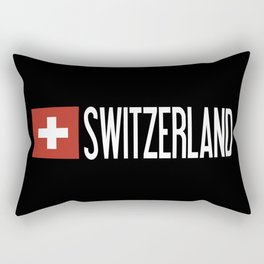 Switzerland: Swiss Flag & Switzerland Rectangular Pillow