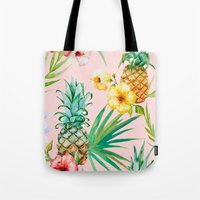 hawaii Tote Bags featuring Hawaii by 83 Oranges™