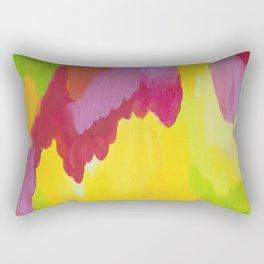 fall colors abstract nature joyful Rectangular Pillow