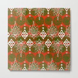 lotus diamond festive Metal Print