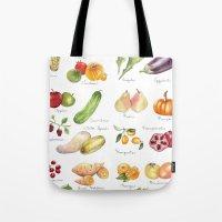 calendar Tote Bags featuring Calendar July-Dec by Brooke Weeber