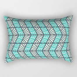 Blue Retro  Rectangular Pillow