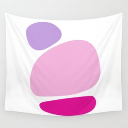 Fun retro style abstract print in soft pastel colours Wall Tapestry