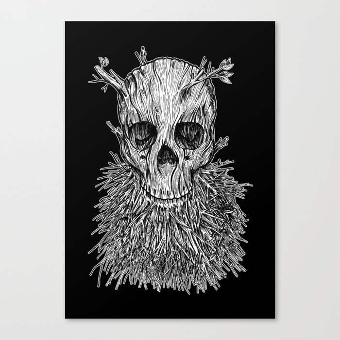 Lumbermancer B/W Canvas Print