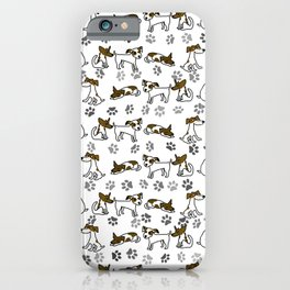 Jack Russell Terrier Dog Cartoon iPhone Case