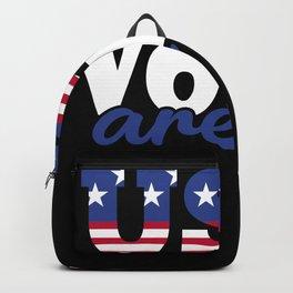 Lovable Votes Of Delightful America Illustration Backpack
