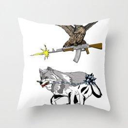 OWL WOLF ALLIANCE 3 Throw Pillow