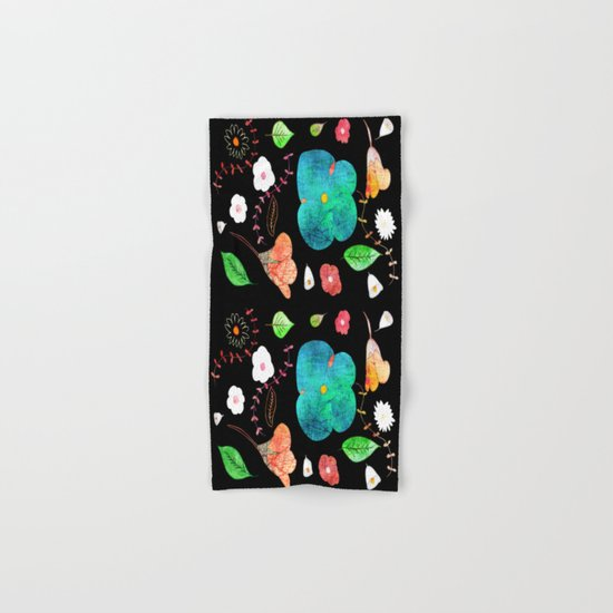 Japaneses midnight garden Hand & Bath Towel