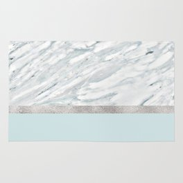 Calacatta verde - silver turquoise Rug