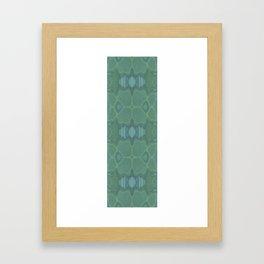 Art Nouveau Green Panel Framed Art Print