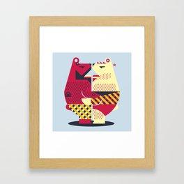 Two Bears Framed Art Print