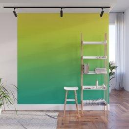 Meadowlark, Lime Punch, Arcadia Blurred Minimal Gradient | Pantone colors of the year 2018 Wall Mural