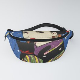 Girl with a cat Fanny Pack
