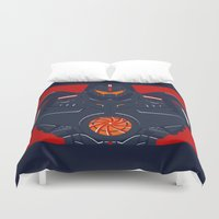 pacific rim Duvet Covers featuring Pacific Rim - Gipsy Danger - Minimal Poster by John Takacs