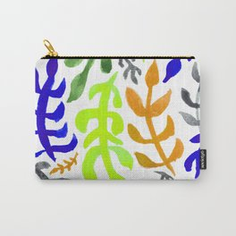 Matisse Inspired Watercolor Pattern (Purple, Tan, Green, and Gray) Carry-All Pouch