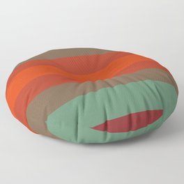 Rust Turquoise Spice - Color Therapy Floor Pillow