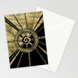 Hunab Ku Mayan symbol Black & Gold Stationery Cards