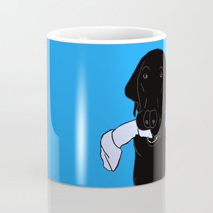 Black Lab With A Bone Coffee Mug