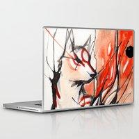 okami Laptop & iPad Skins featuring Okami by Rubis Firenos