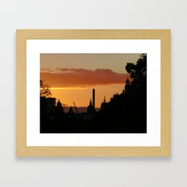 Glasgow Skyline Framed Art Print
